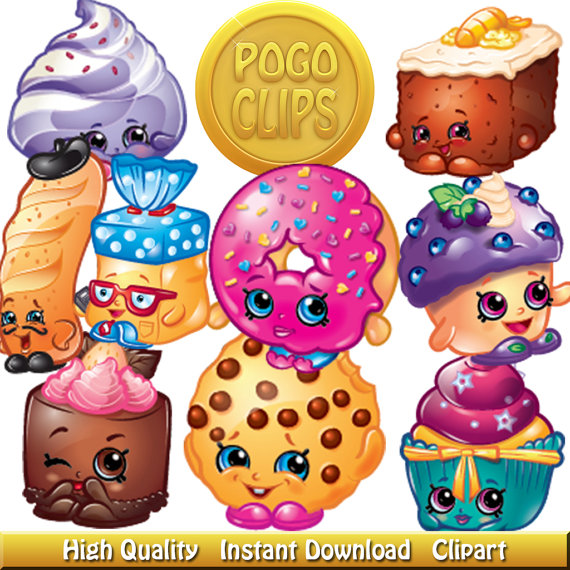 Clipart of shopkins banner download 80 Shopkins Fruit and Vegetables Characters / Clip Art DIY Instant ... banner download