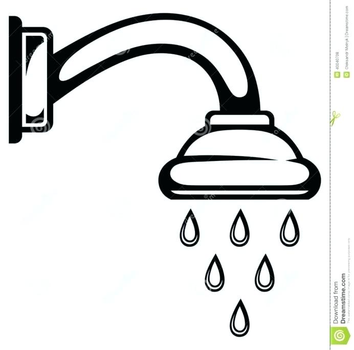 Clipart of shower clip black and white stock clip art shower – telodigotodo.info clip black and white stock