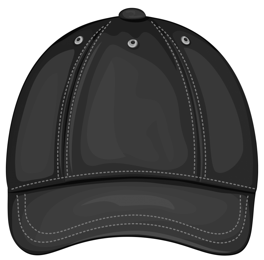 Clipart of side view of man with a baseball cap vector library stock black baseball cap front png - Free PNG Images   TOPpng vector library stock