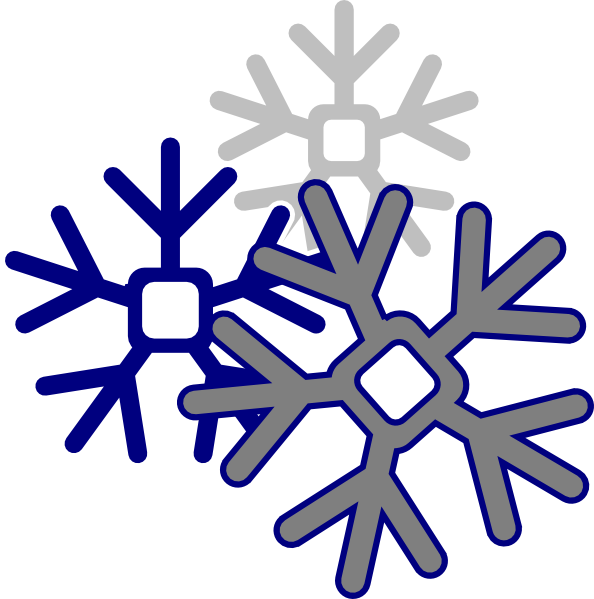 Snowflake cloud clipart vector black and white stock Edited Snowflake Clip Art at Clker.com - vector clip art online ... vector black and white stock