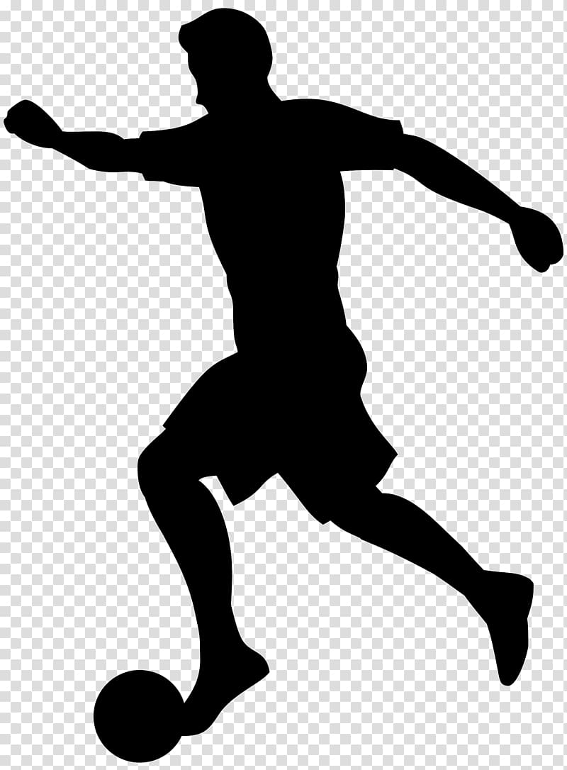 Soccer silhouette clipart png black and white stock Football player Silhouette , Soccer transparent background PNG ... png black and white stock