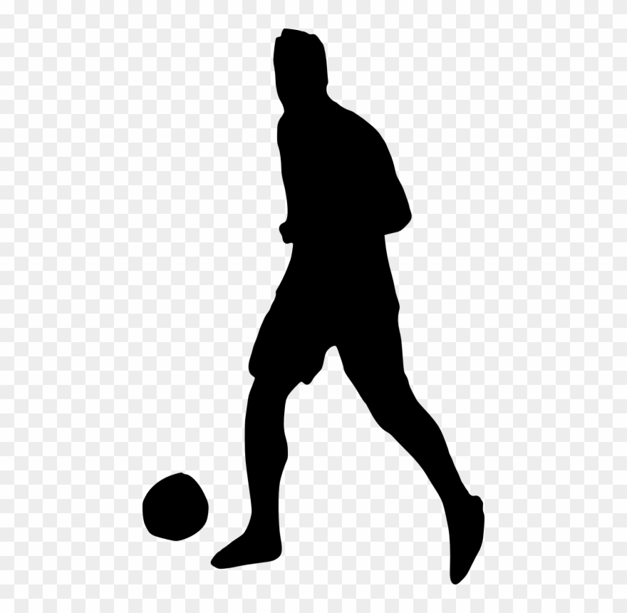 Clipart of soccer player without a ball png free stock Free Png Football Player Silhouette Png - Transparent Soccer Player ... png free stock