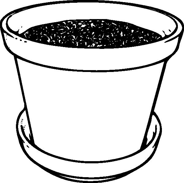 Clipart of soil in black and white clip art transparent download Flowerpot With Soil Clip Art at Clker.com - vector clip art online ... clip art transparent download