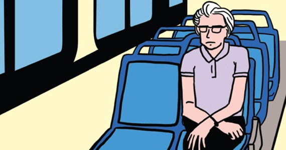 Sitting on the bus clipart clipart black and white You\'re Riding the Bus Wrong - Feature - Portland Mercury clipart black and white