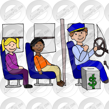 Clipart of someone sitting on a bus clipart transparent stock Driver on the Bus Picture for Classroom / Therapy Use - Great Driver ... clipart transparent stock