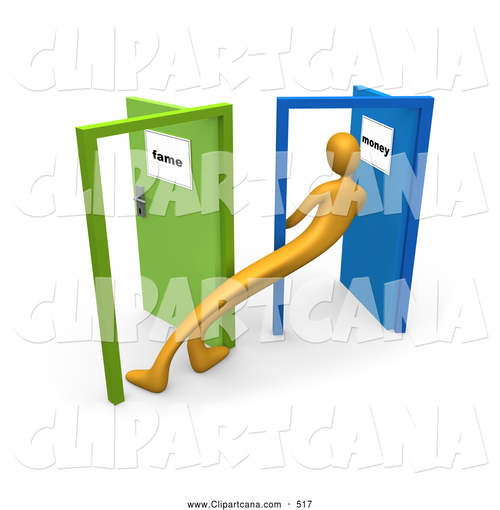 Clipart of someone standing in a doorway clip stock Clip Art of a Long Uncertain Orange Person Standing in the Doorway ... clip stock