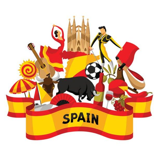 Clipart of spain picture freeuse library Spain Flag Clipart | Free download best Spain Flag Clipart on ... picture freeuse library