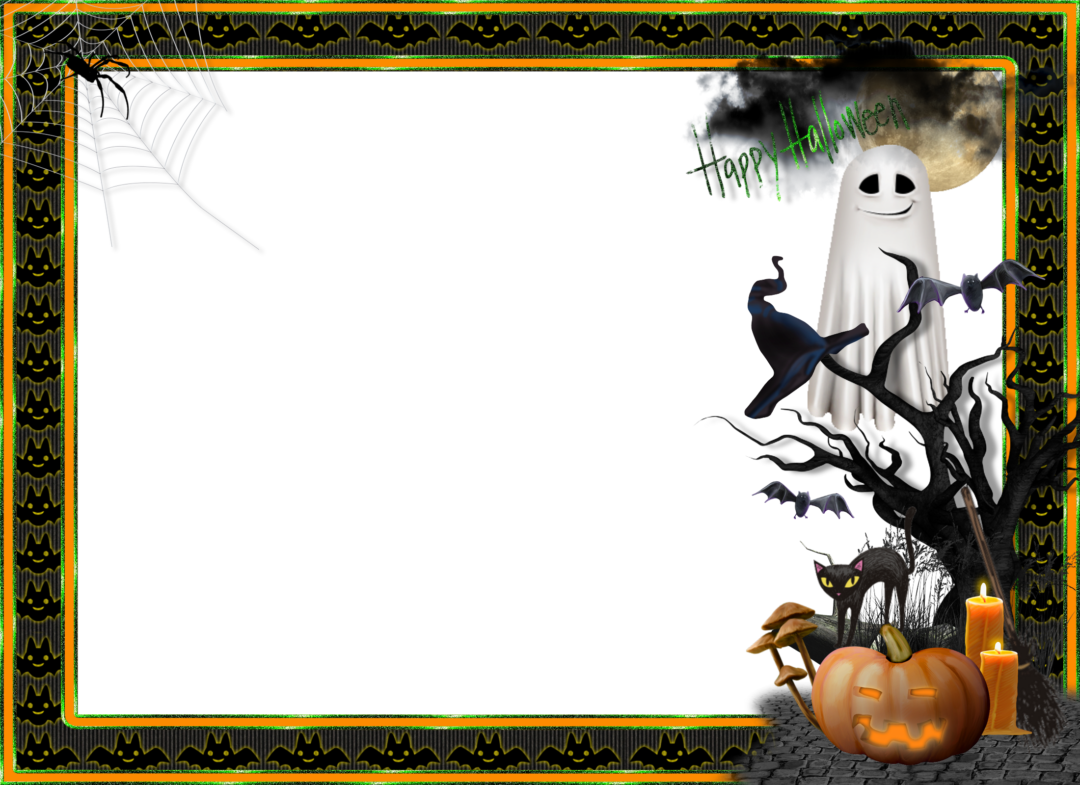 Clipart of spooky halloween frames image transparent library Halloween Transparent Large Photo Frame | Marcos/Frame | Pinterest ... image transparent library