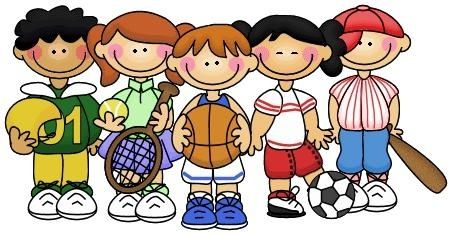 Sports clipart free vector transparent download Kids Playing Sports Clipart - clipartsgram.com | Welcome Bag ... vector transparent download