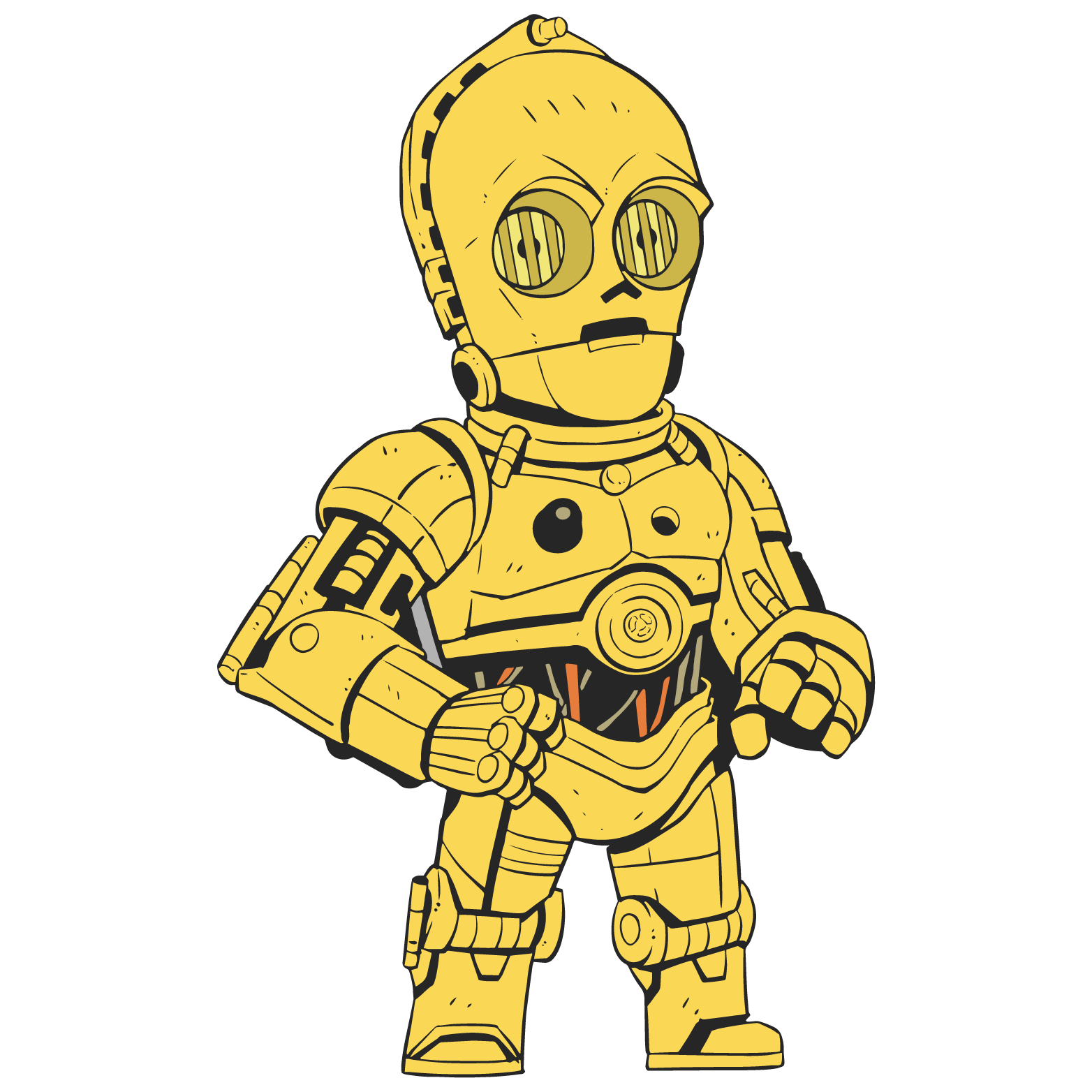 Clipart of star wars characters image royalty free download Pin Trading Program - Star Wars Celebration image royalty free download
