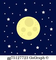 Clipart of stars and moon svg transparent download Moon Stars Clip Art - Royalty Free - GoGraph svg transparent download