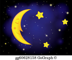 Clipart of stars and moon png freeuse stock Moon Stars Clip Art - Royalty Free - GoGraph png freeuse stock