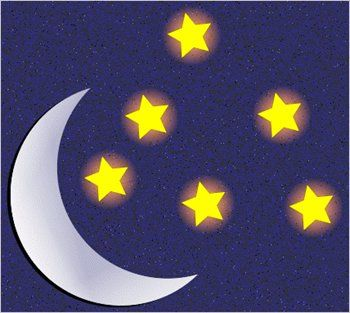 Clipart of stars and moon png black and white library Free moon-and-stars Clipart - Free Clipart Graphics, Images and ... png black and white library
