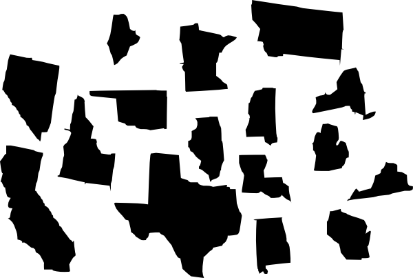 Clipart of states banner free Seperate States Power Clip Art at Clker.com - vector clip art ... banner free