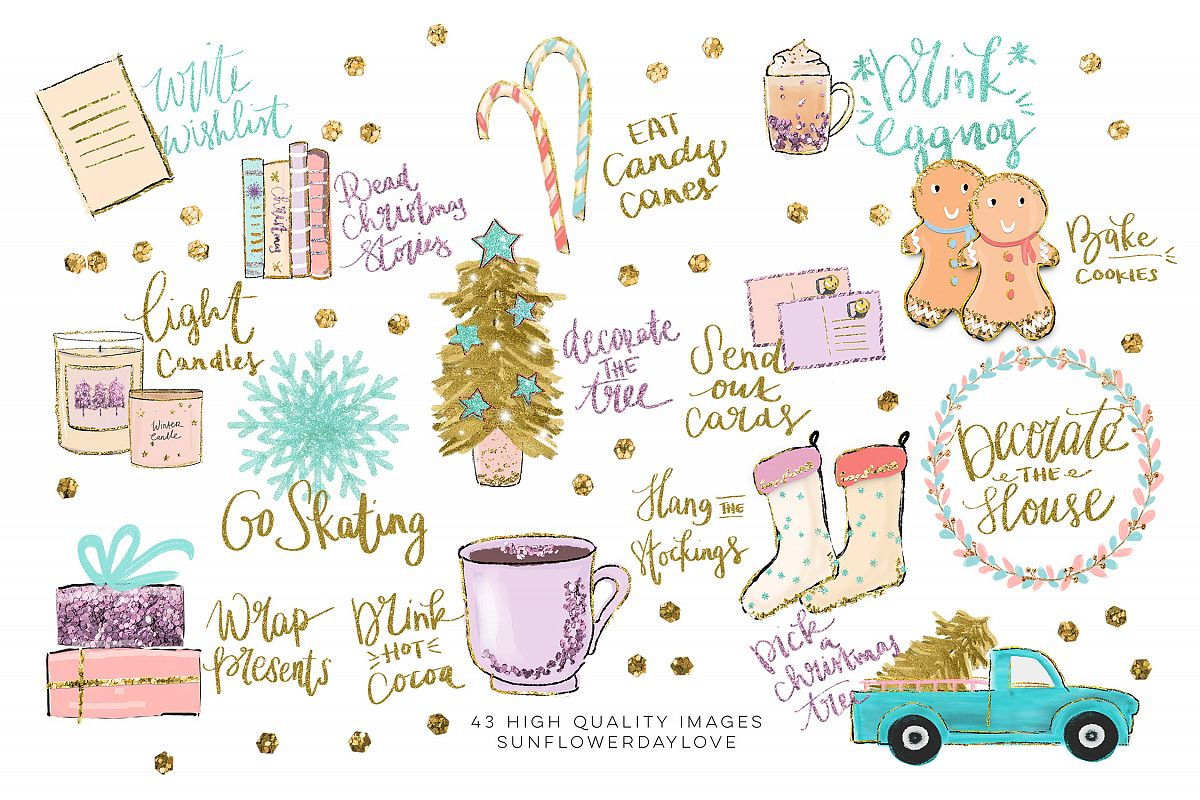 Clipart of stickers clip art download Holiday Bucket List Clip art, Winter Stickers clipart clip art download