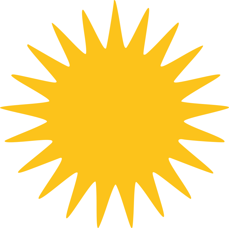 Orange sun rays clipart picture library download Clipart - Yazidi Sun 21 Rays picture library download