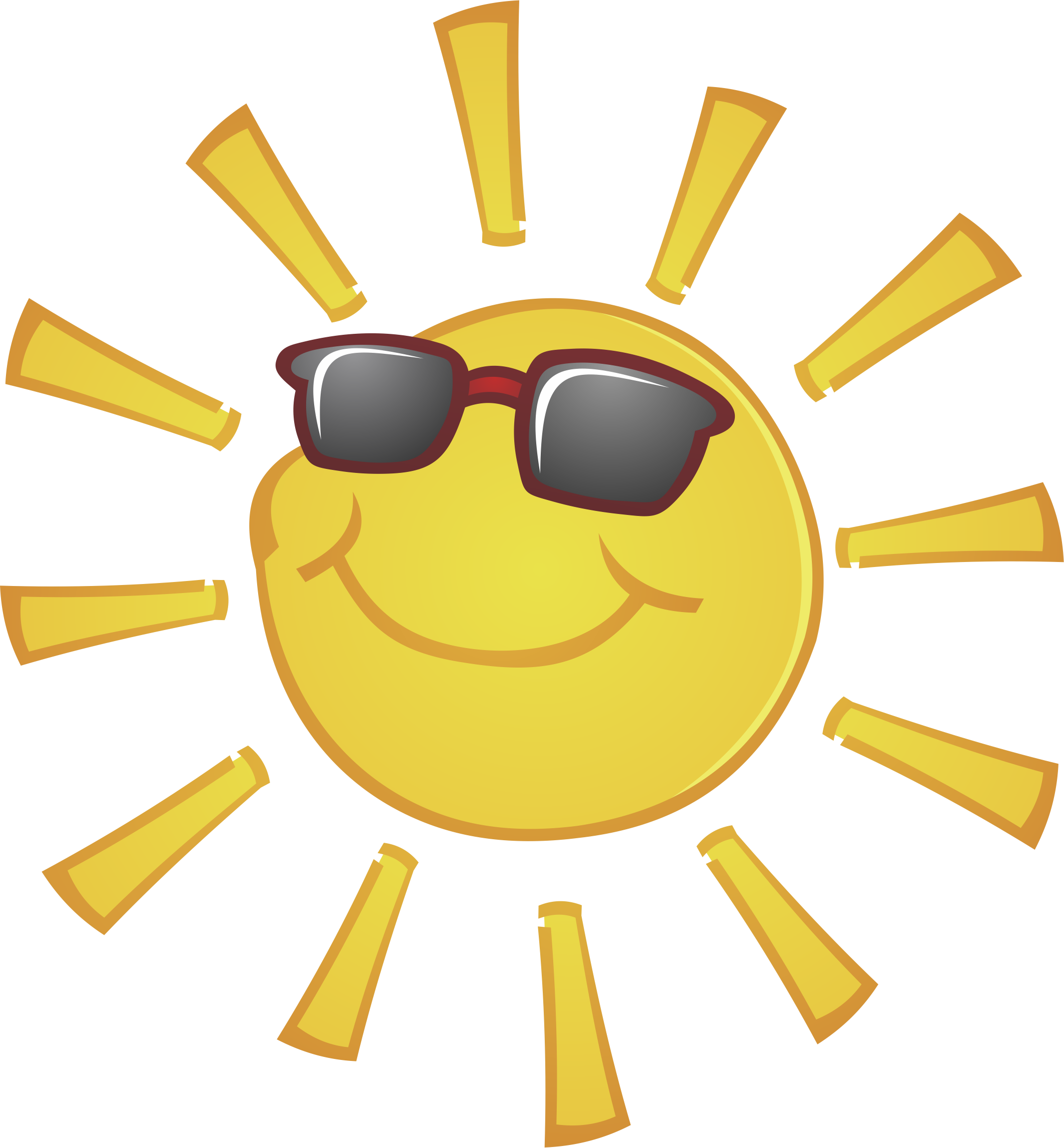 Clipart of sun wearing glasses image black and white library Sun with sunglasses 2127*2294 transprent Png Free Download ... image black and white library