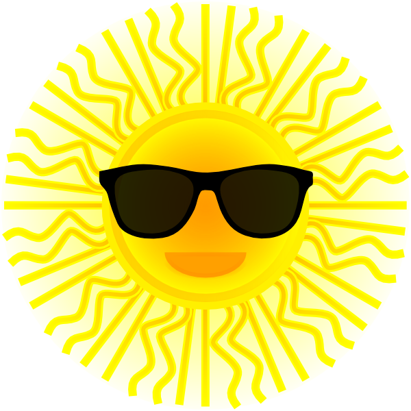 Sun shade clipart picture black and white library Sun With Sunglasses Clip Art at Clker.com - vector clip art online ... picture black and white library