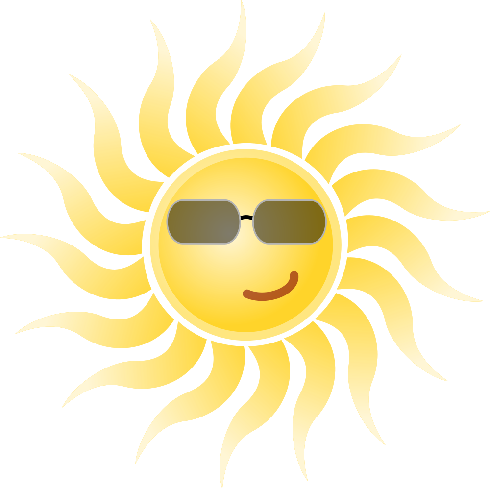 Clipart of sun wearing glasses banner free File:Sun wearing sunglasses.svg - Wikimedia Commons banner free