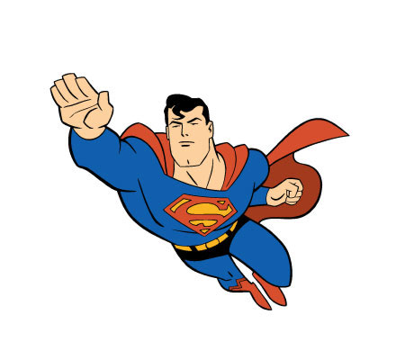 Clipartion com free vector. Clipart of superman