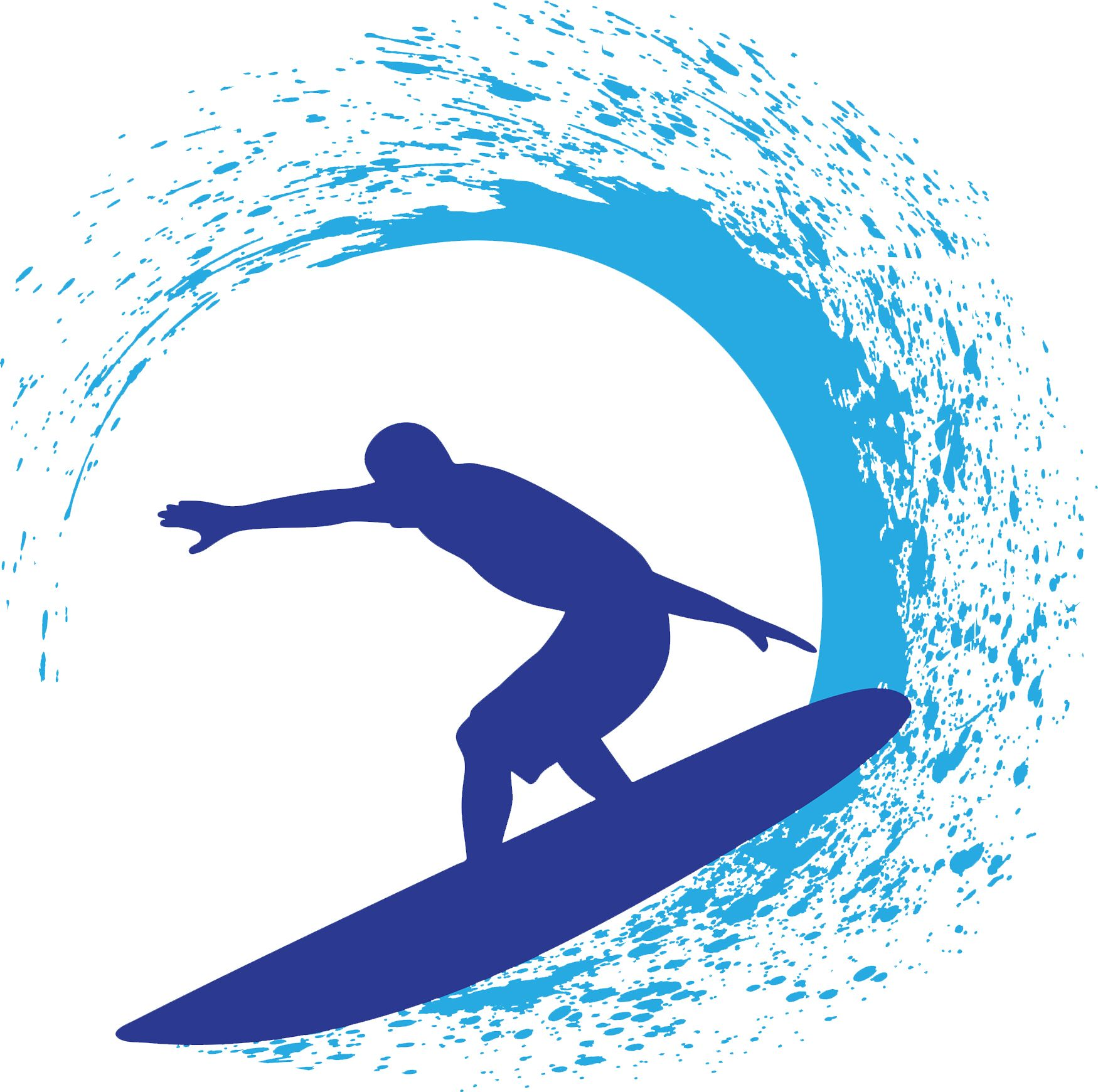 Clipart of surfing picture black and white download Create surfer designs using the clip art from the Decorating and ... picture black and white download