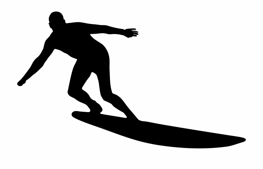 Surfboarding black and white clipart clip free This Free Icons Png Design Of Man Surfing Silhouette - Surfing ... clip free