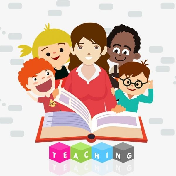 Clipart of teacher and students clipart freeuse library Teacher And Student Reading, Student Clipart, Reading Clipart ... clipart freeuse library
