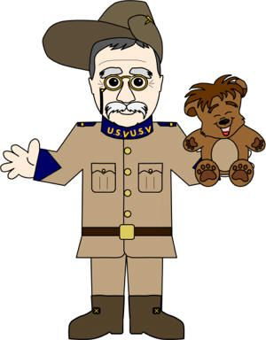 Clipart of teddy bear for theodore roosevelt picture royalty free download Theodore \