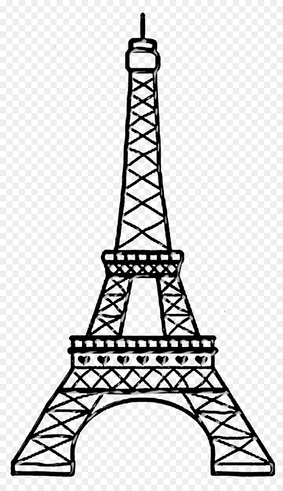 Clipart of the eiffel tower svg freeuse Eiffel Tower Drawing clipart - Drawing, Sketch, Line, transparent ... svg freeuse