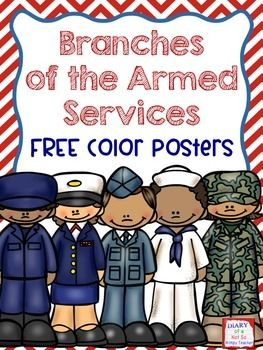 Clipart of the five branches of armed forces uniforms png library download FREE color posters for each of the branches of the armed services ... png library download