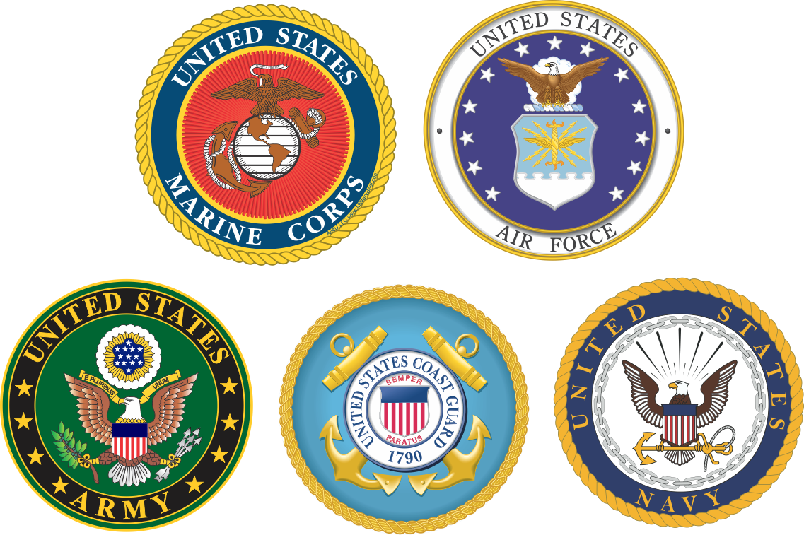 Clipart of the five branches of armed forces uniforms svg freeuse library branches-of-service-combo-pack-of-decals-8.gif (1137×757) | Military ... svg freeuse library