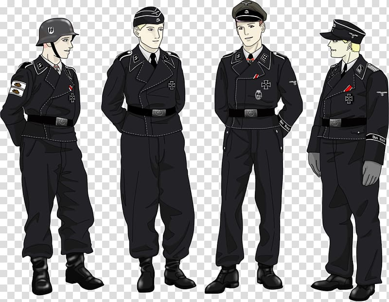 Clipart of the five branches of armed forces uniforms vector free download Military uniform Uniforms of the Heer Panzer Wehrmacht, Tank ... vector free download