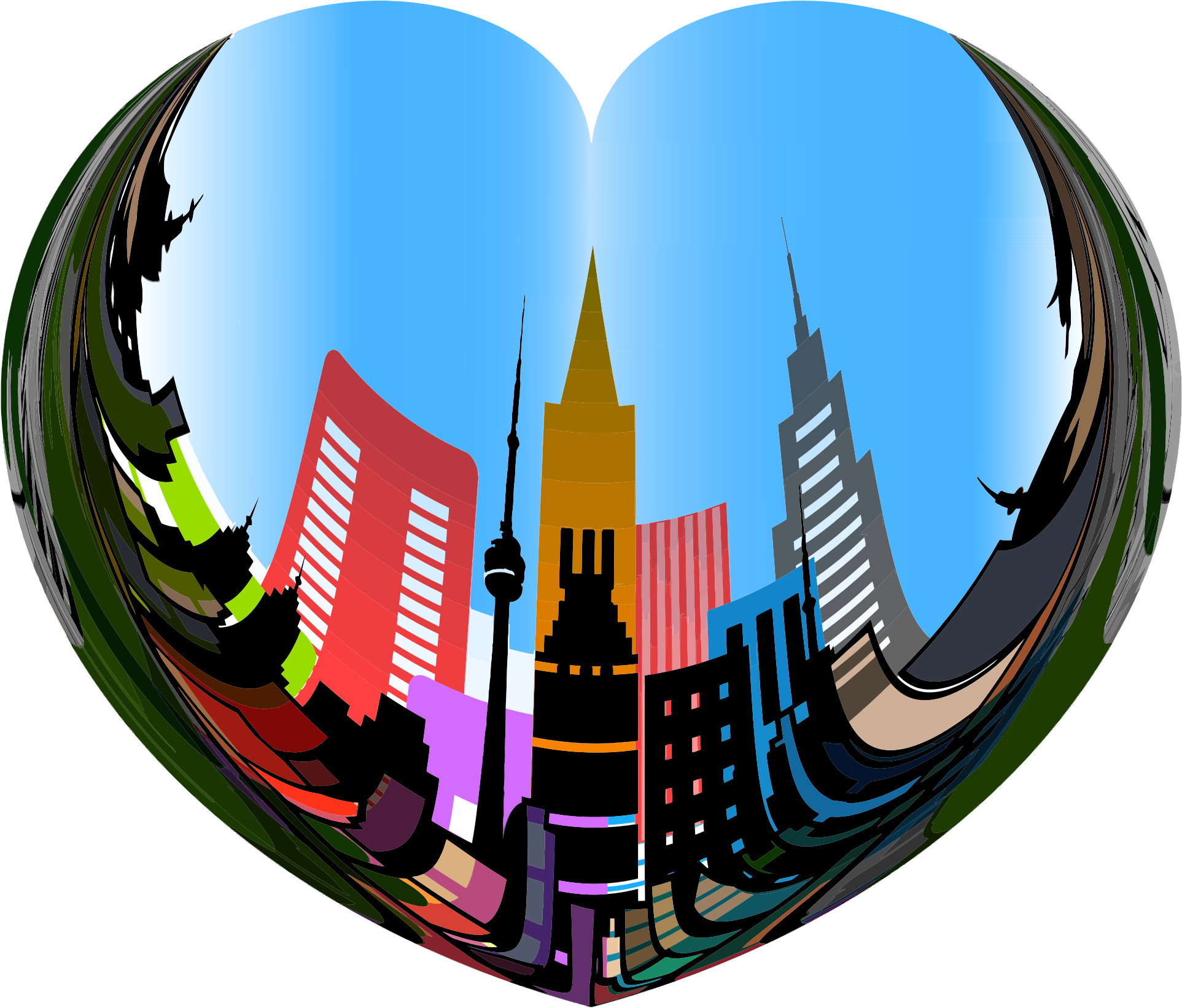 Clipart of the heart svg library download Clipart - Heart Of The City svg library download