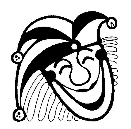 Clipart of the joker clip black and white Joker Clipart - Clipart Kid clip black and white