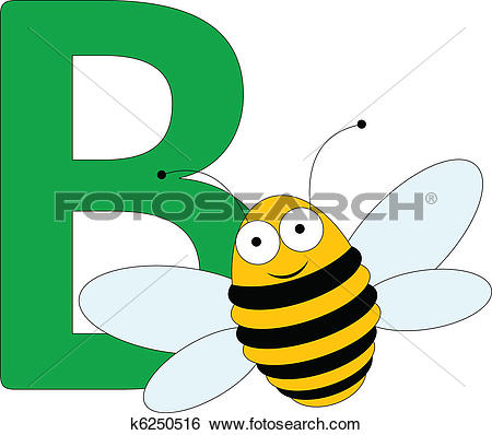 Clipart of the letter b clip art freeuse library Stock Illustration of Letter B with a Bee k3232269 - Search Vector ... clip art freeuse library