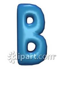 Clipart of the letter b svg black and white stock Bubble Letter B - Royalty Free Clipart Picture svg black and white stock