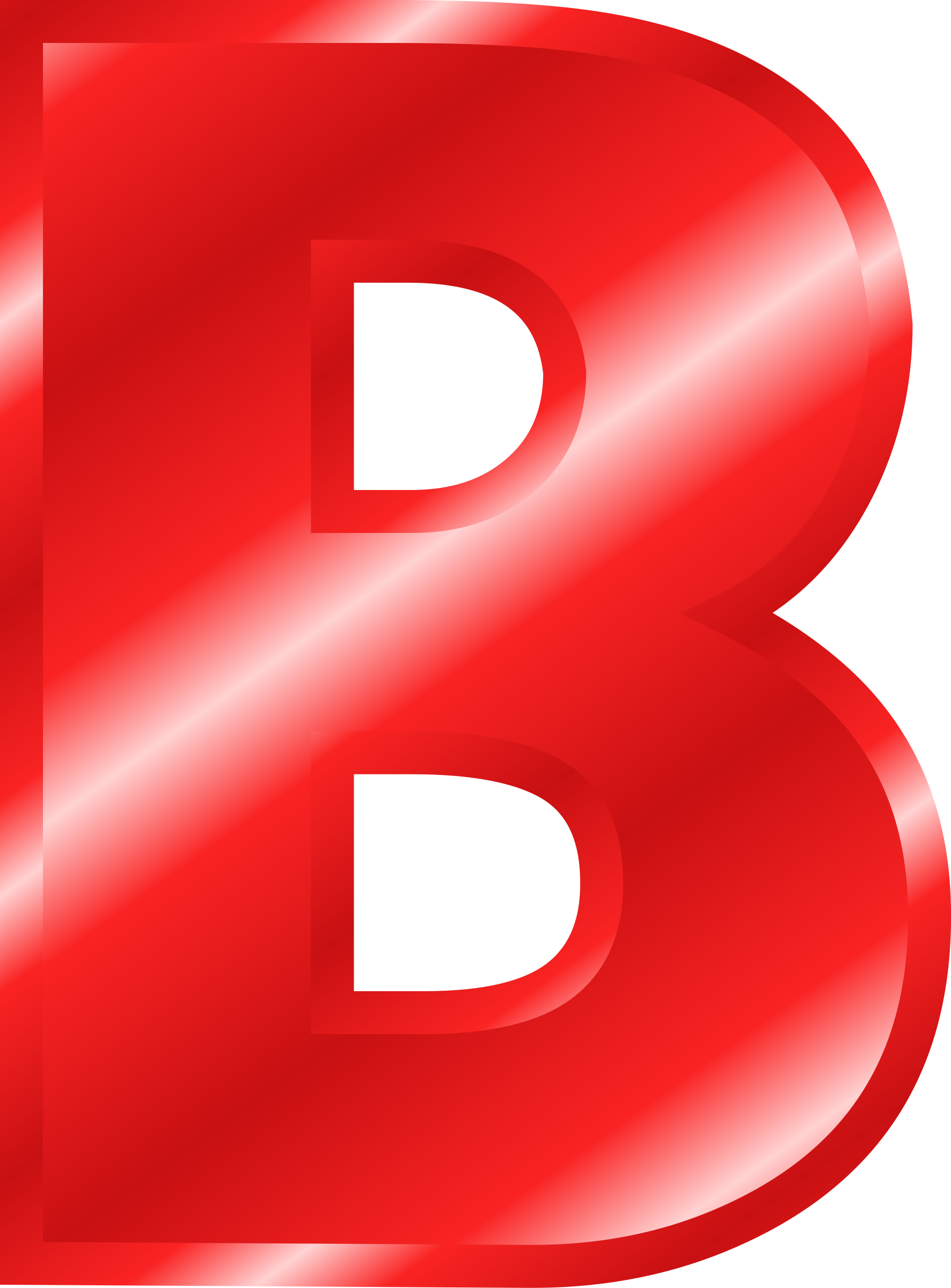 Letter b clipart vector royalty free library Clipart - Effect Letters Alphabet red vector royalty free library