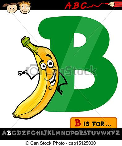 Clipart of the letter b clip art transparent Vectors of letter b with banana cartoon illustration - Cartoon ... clip art transparent