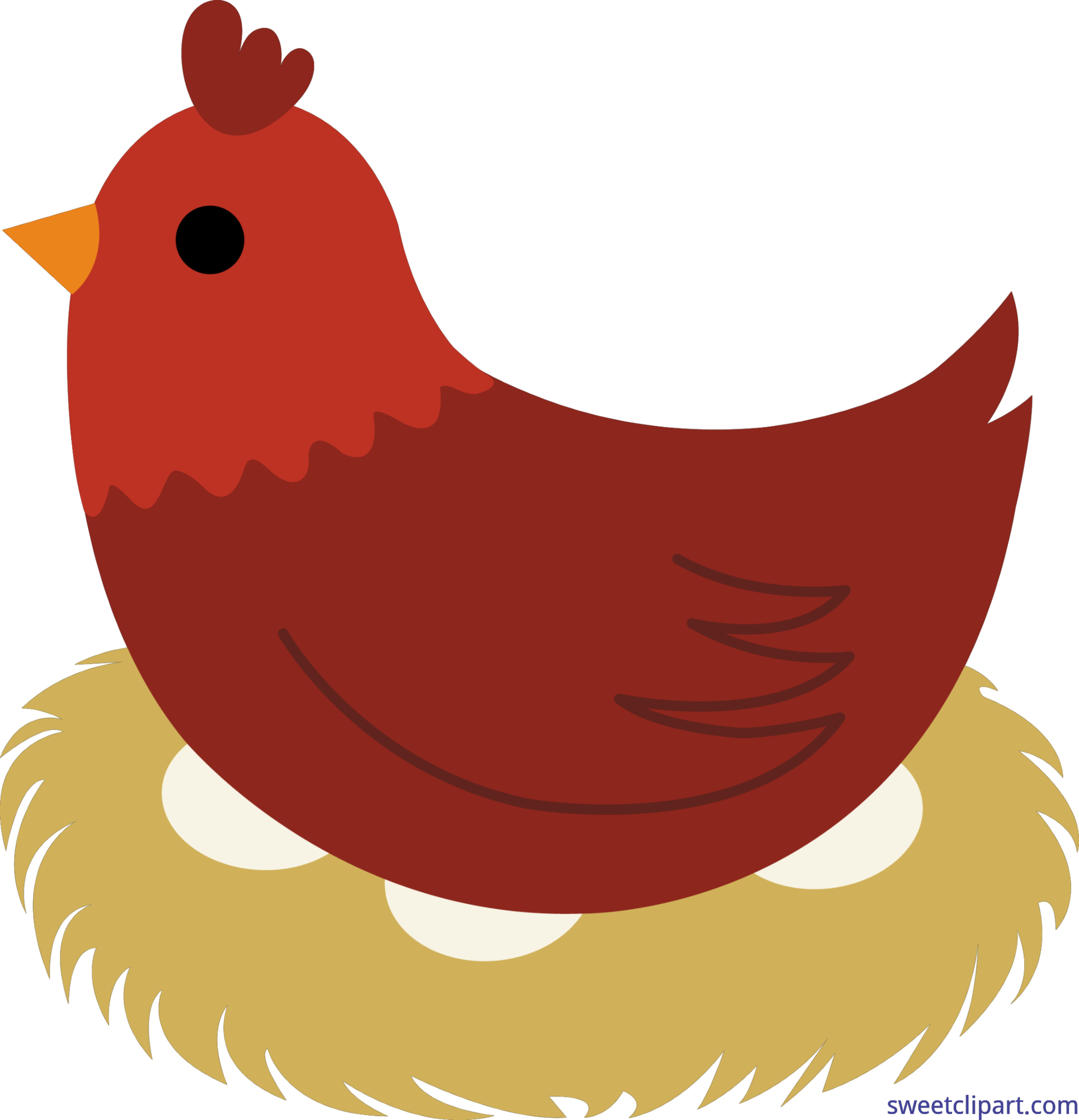 Clipart of the red hen picture black and white stock Little Red Hen Clip Art - Sweet Clip Art picture black and white stock