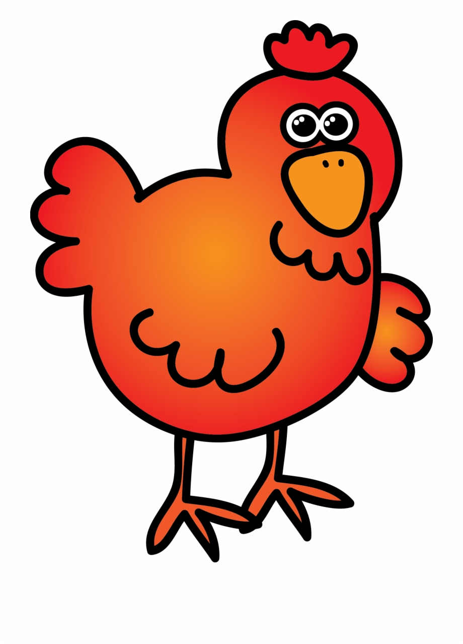 Clipart of the red hen clip black and white stock Little Red Hen Clipart - Cartoon Free PNG Images & Clipart Download ... clip black and white stock