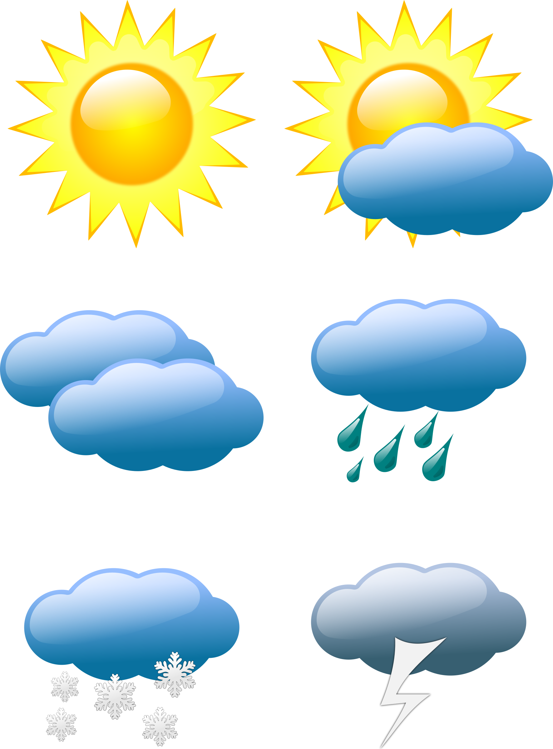 Sun behind cloud modern clipart png transparent weather symbols by @sivvus, Weather symbols., on @openclipart ... png transparent