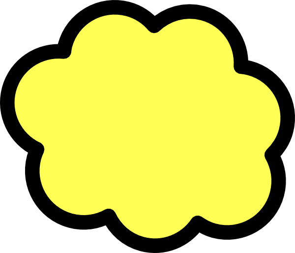 Clipart of the sun and the clouds collided and created a thuder bolt picture freeuse stock Yellow Cloud Clip Art at Clker.com - vector clip art online, royalty ... picture freeuse stock