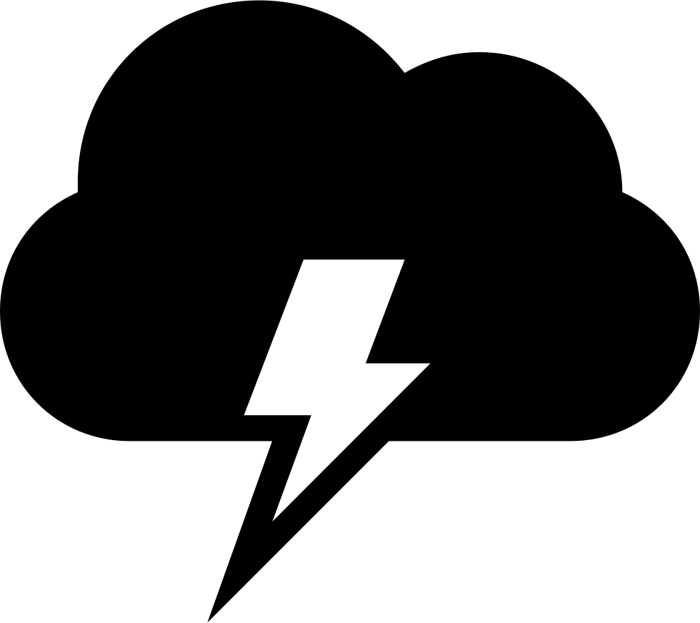 Clipart of the sun and the clouds collided and created a thuder bolt graphic library stock Cloud With Electrical Lightning Bolt Weather Storm Symbol Svg Png ... graphic library stock