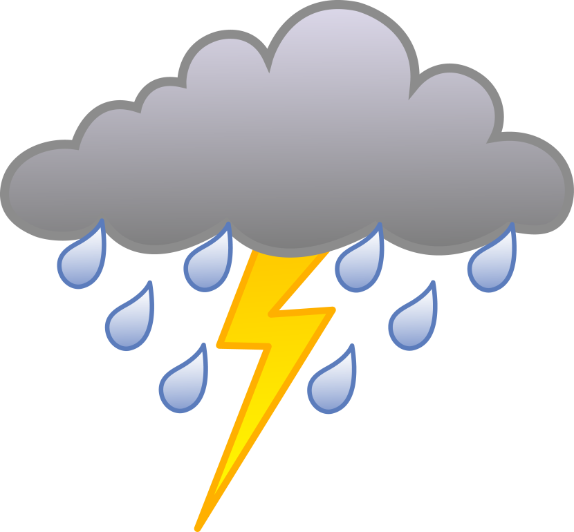 28+ Collection of Cloud And Lightning Clipart   High quality, free ... vector library library