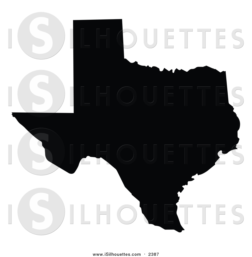 Clipart of the united states clip black and white library Clipart of a Black Silhouette of Texas, United States of America ... clip black and white library