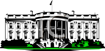 Clipart of the white house in washington d c svg freeuse library Clipart Picture of The White House in Washington D.C. svg freeuse library
