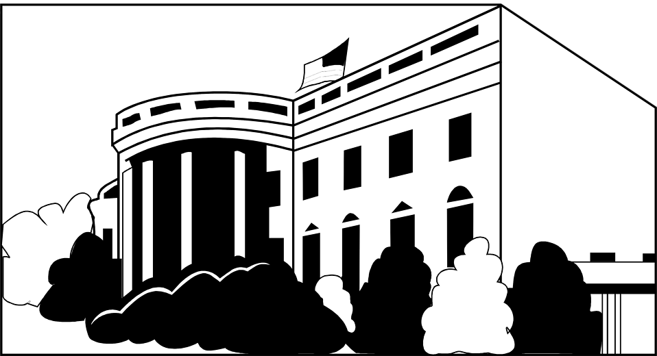 Clipart of the white house in washington d c graphic free White House | Free Stock Photo | Illustration of the White House in ... graphic free