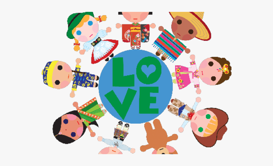 Clipart of the world love royalty free library Children Of The World Clipart - Love Children Around The World ... royalty free library