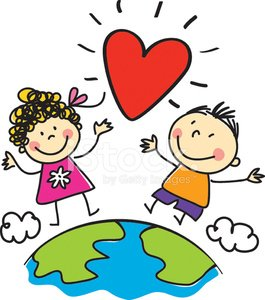 Clipart of the world love graphic royalty free library Love, World Peace, Kids Illustration premium clipart - ClipartLogo.com graphic royalty free library