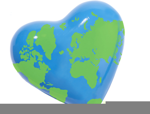 Clipart of the world love banner black and white stock Love Earth Clipart | Free Images at Clker.com - vector clip art ... banner black and white stock